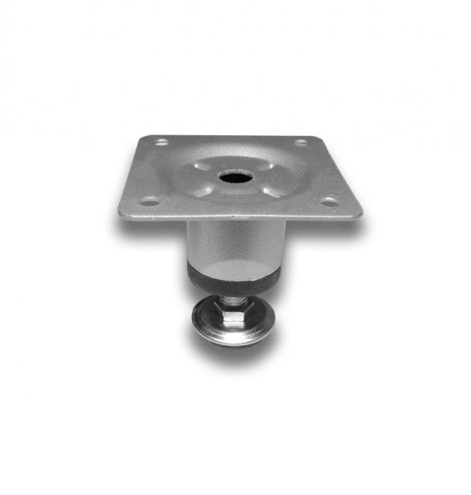 Picior metalic cilindric pentru mobilier H:50 mm, Ø30 mm, finisaj aluminiu 0