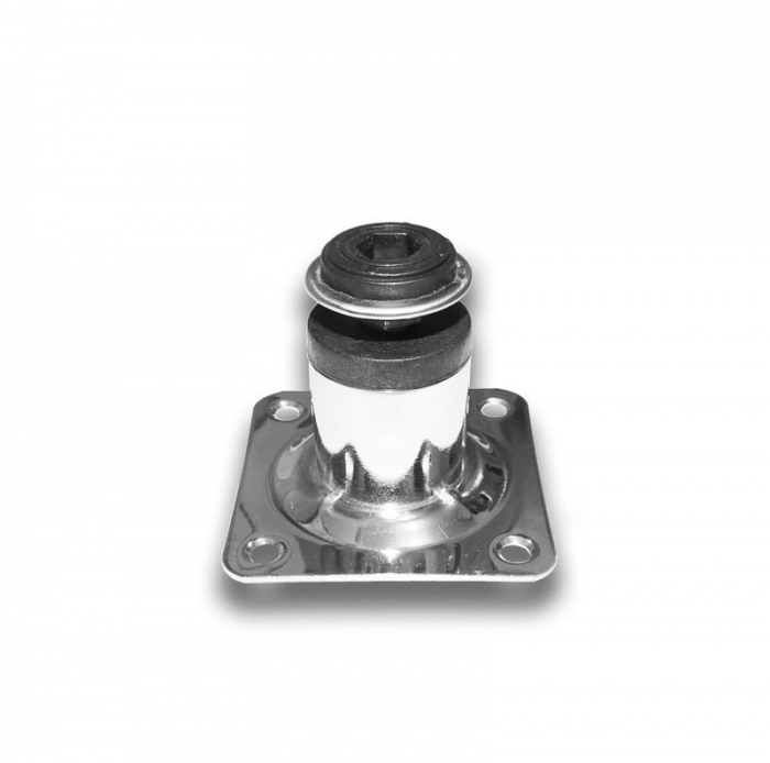 Picior metalic cilindric pentru mobilier H:50 mm, Ø30 mm, finisaj crom lucios [1]