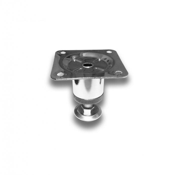 Picior metalic cilindric pentru mobilier H:50 mm, Ø30 mm, finisaj crom lucios [0]