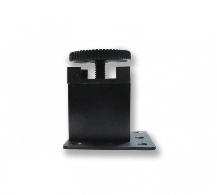 Picior metalic fara masca pentru mobilier H:50 mm cu profil patrat 40x40 mm negru 1