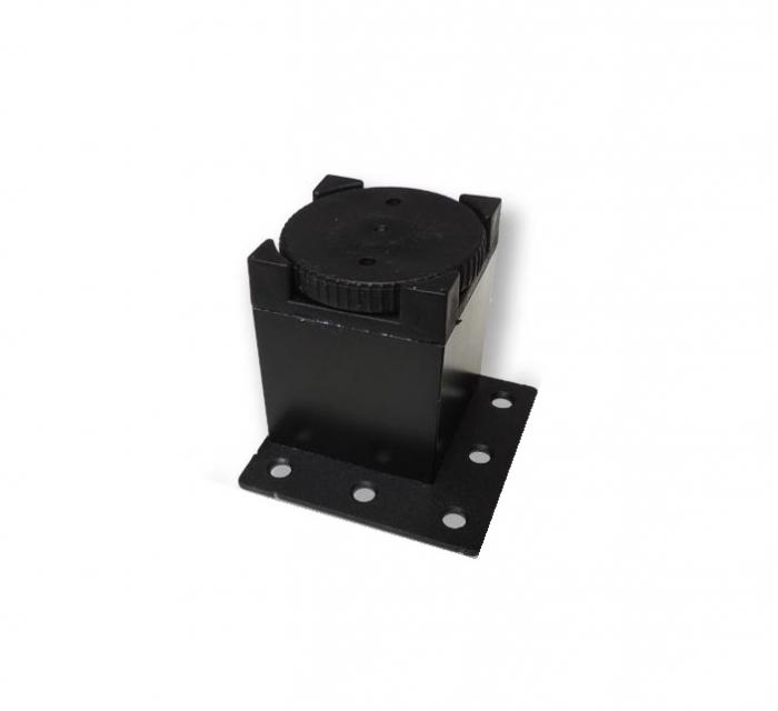 Picior metalic fara masca pentru mobilier H:50 mm cu profil patrat 40x40 mm negru 2