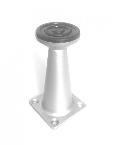 Picior metalic pentru mobilier H:80 mm finisaj aluminiu 1
