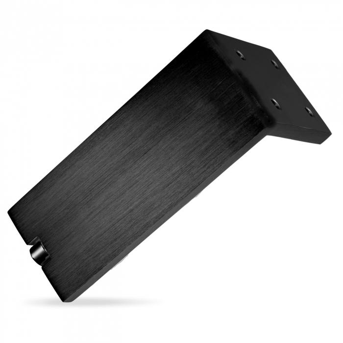 Picior pentru mobilier reglabil, Fonda, H:100 mm, finisaj negru periat 0