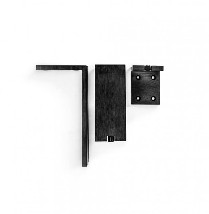 Picior pentru mobilier reglabil, Fonda, H:100 mm, finisaj negru periat 1