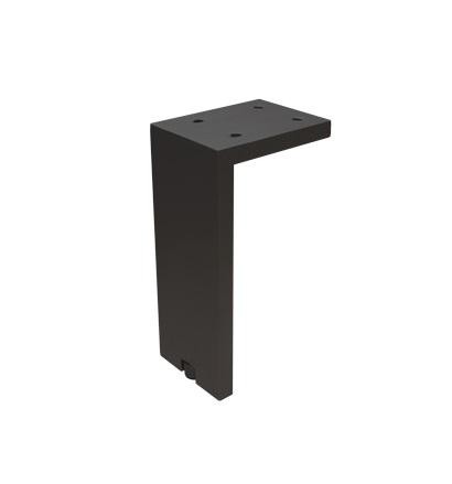Picior pentru mobilier reglabil, Fonda, H:100 mm, finisaj negru periat 2