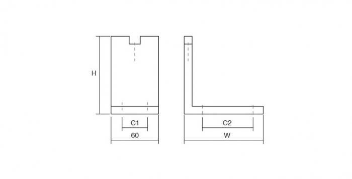 Picior pentru mobilier reglabil, Fonda, H:100 mm, finisaj otel inoxidabil 2