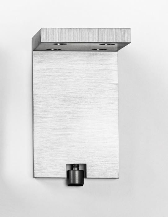 Picior pentru mobilier reglabil, Fonda, H:100 mm, finisaj otel inoxidabil 1