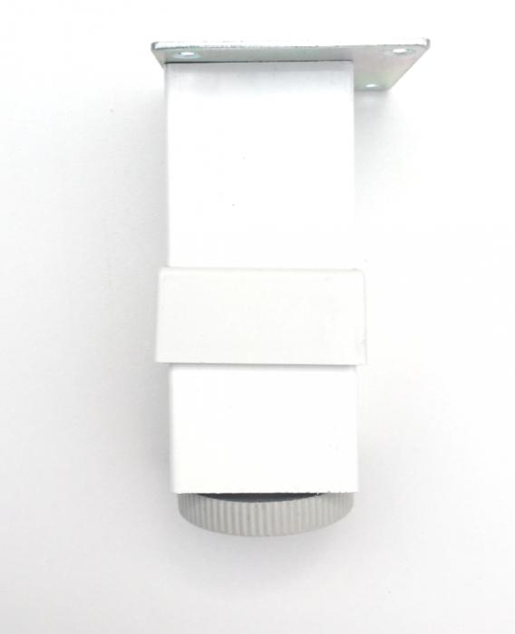 Picior reglabil pentru mobilier H100 finisaj alb 1