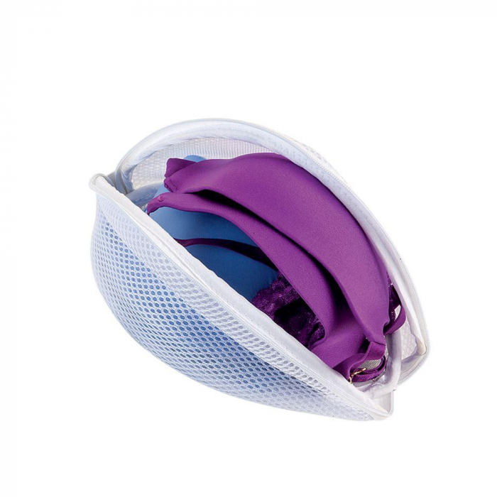 Plasa pentru spalat lenjerie intima, alba, 22x15x9 cm 0