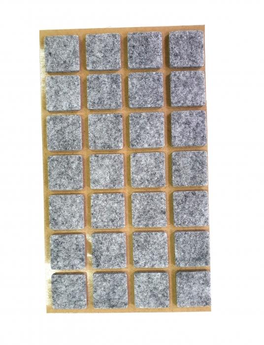 Protectie pasla autoadeziva pentru pardoseala, dreptunghiulara 20 x 20 mm, gri, set 28 buc 0