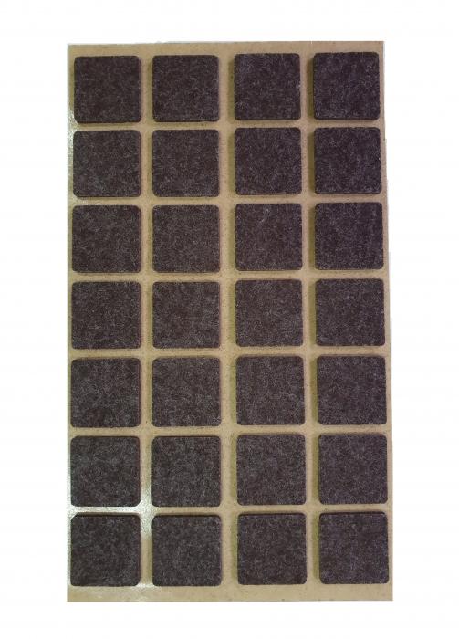 Protectie pasla autoadeziva pentru pardoseala, dreptunghiulara 20 x 20 mm, maro, set 28 buc 0