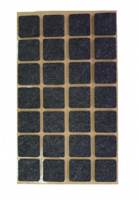 Protectie pasla autoadeziva pentru pardoseala, dreptunghiulara 20 x 20 mm, neagra, set 28 buc 0