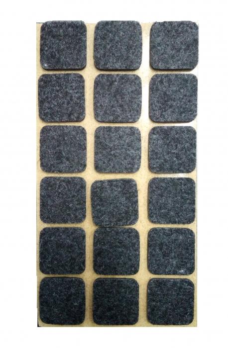 Protectie pasla autoadeziva pentru pardoseala, dreptunghiulara 25 x 25 mm, negru, set 18 buc [0]