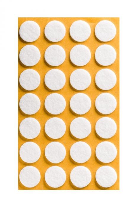 Protectie pasla autoadeziva pentru pardoseala, rotunda D 20 mm, alba, set 28 buc [0]