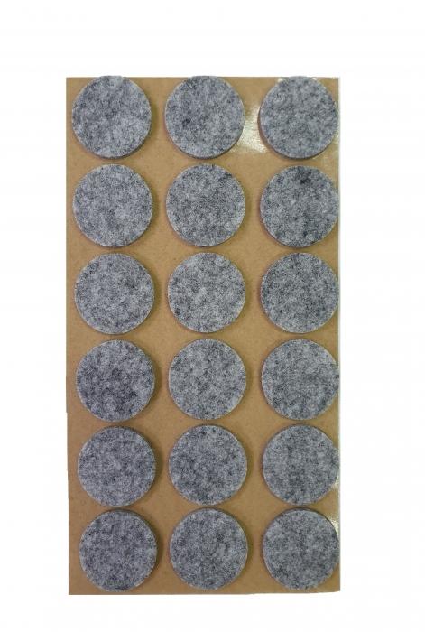 Protectie pasla autoadeziva pentru pardoseala, rotunda D 25 mm, gri, set 18 buc 1