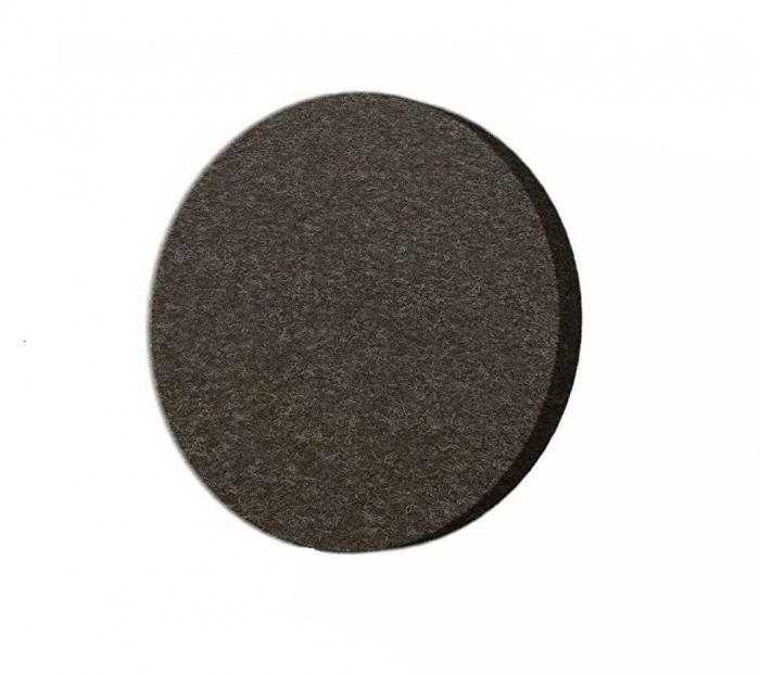 Protectie pasla autoadeziva pentru pardoseala, rotunda D 25 mm, maro, set 18 buc 0