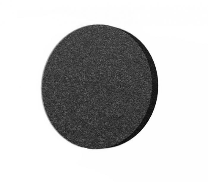Protectie pasla autoadeziva pentru pardoseala, rotunda D 25 mm, neagra, set 18 buc [0]