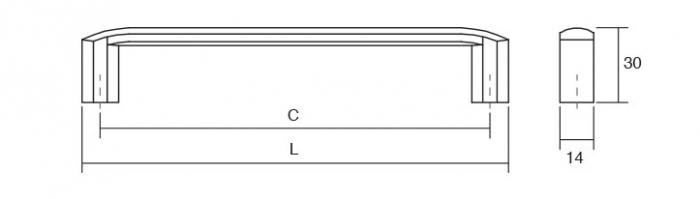 Maner pentru mobila Roma, finisaj nichel periat, L:175 mm [2]