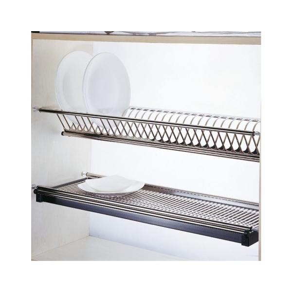 Scurgator din otel inoxidabil pentru vase montabil in dulap de bucatarie cu dimensiune de 400 mm 1