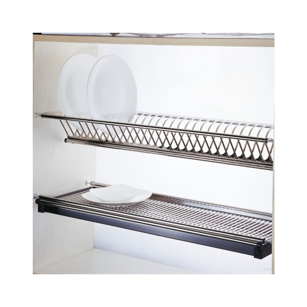 Scurgator din otel inoxidabil pentru vase montabil in dulap de bucatarie cu dimensiune de 700 mm 2
