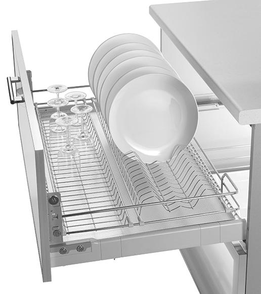 Scurgator pentru vase, tip sertar cu amortizor, pentru latime corp 450 mm 0