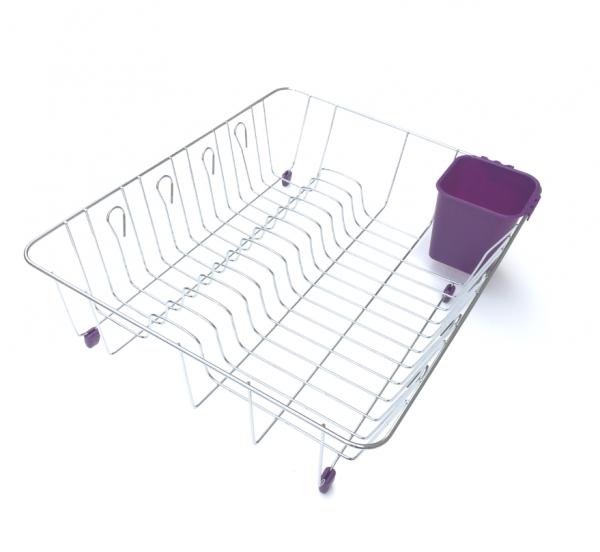 Scurgator vase cu suport pentru tacamuri violet 2