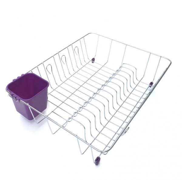 Scurgator vase cu suport pentru tacamuri violet 1