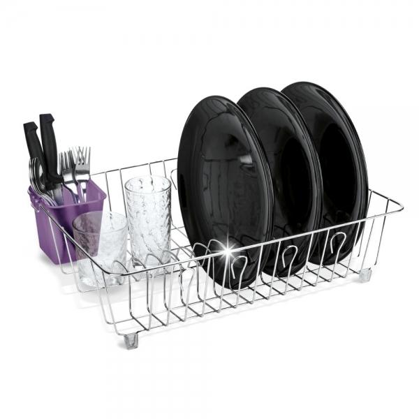Scurgator vase cu suport pentru tacamuri violet 0