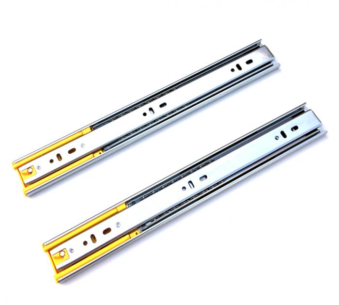 Set 2 glisiere pe bile cu amortizare si extragere totala 450 mm [1]