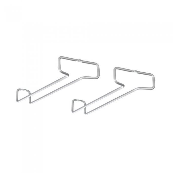 Set 2 suporturi pentru pahare gri 26x4x11 1