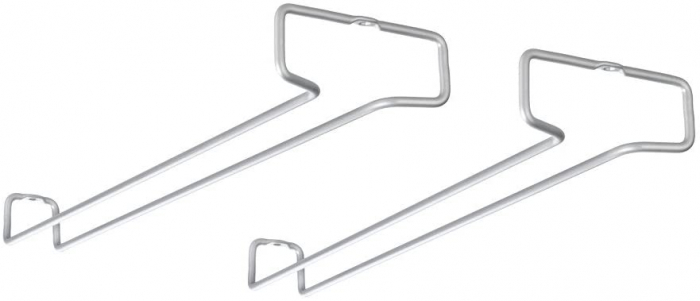 Set 2 suporturi pentru pahare Rail 41x4x11 cm, gri [2]