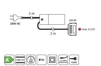 Set 3 spoturi patrat ( 25 diode) 1