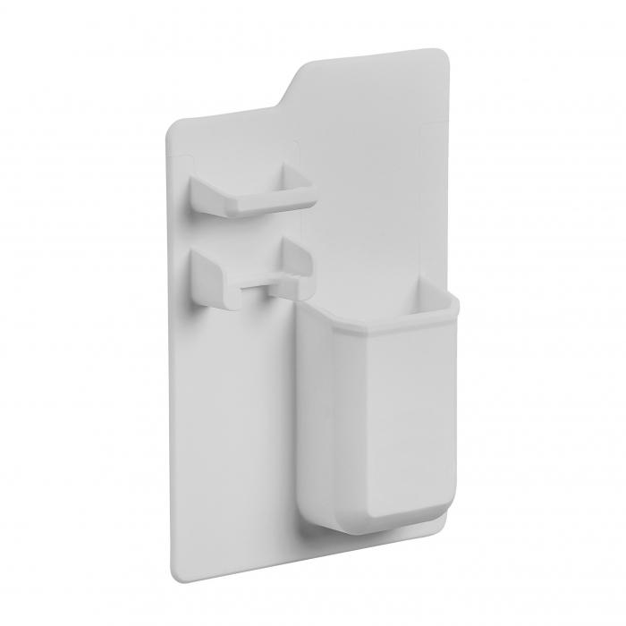 Suport din silicon pentru pasta de dinti, periute, aparat de ras si bijuterii de culoare gri 0
