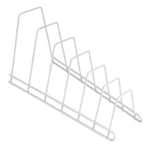 Suport metalic alb pentru capace oale si tocatoare bucatarie 1