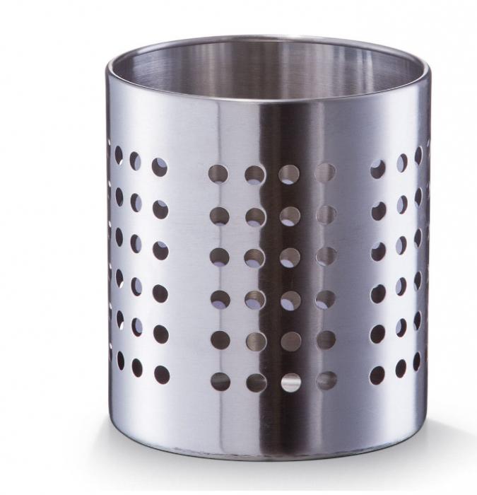 Suport metalic pentru tacamuri si ustensile de bucatarie finisaj inox [0]