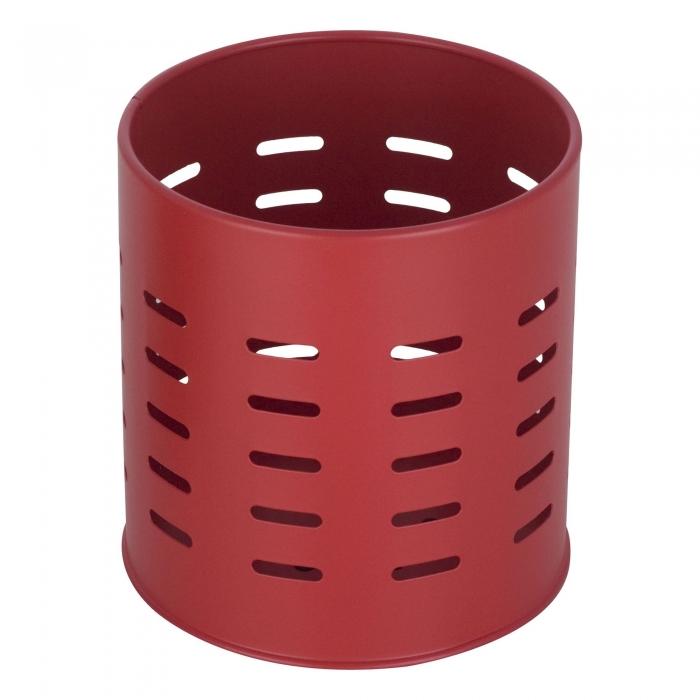 Suport metalic pentru tacamuri si ustensile de bucatarie rosu 0