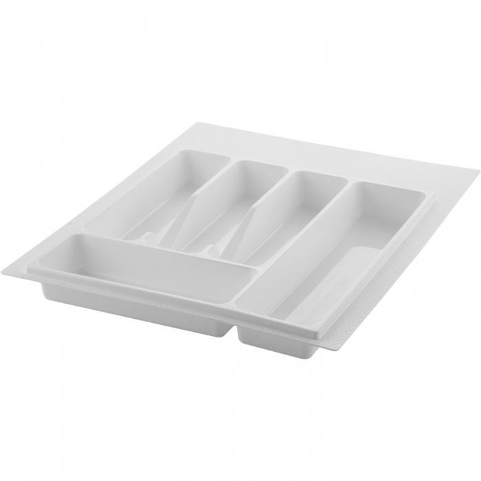 Suport organizare tacamuri, alb, pentru corp de 400 mm, montabil in sertar bucatarie 0