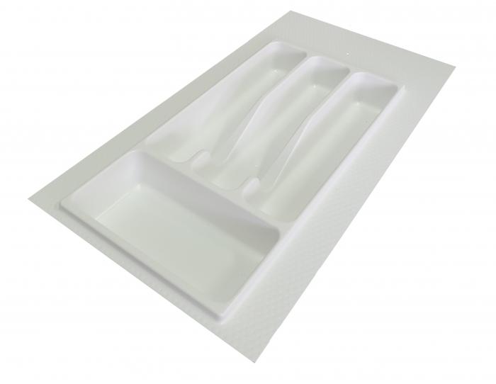 Suport organizare tacamuri, alb, pentru latime corp 350 mm, montabil in sertar bucatarie [0]