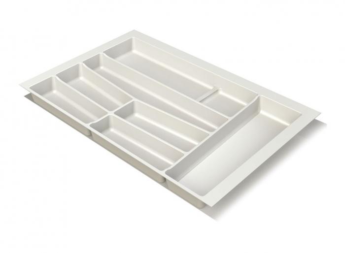 Suport organizare tacamuri, alb, pentru latime corp 800 mm, montabil in sertar bucatarie 0