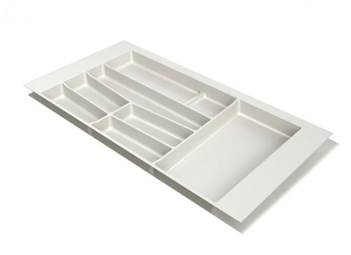 Suport organizare tacamuri, alb, pentru latime corp 900 mm, montabil in sertar bucatarie 0