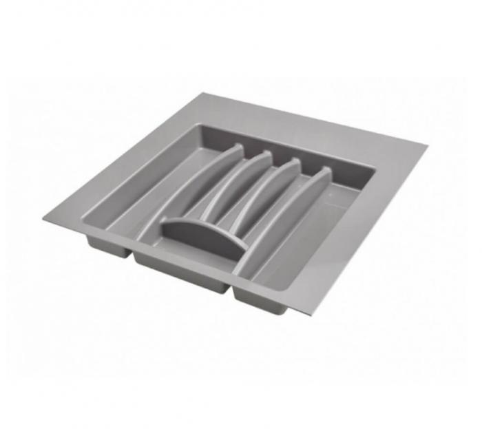 Suport organizare tacamuri,gri aluminiu, pentru latime corp 550 mm, montabil in sertar bucatarie 0