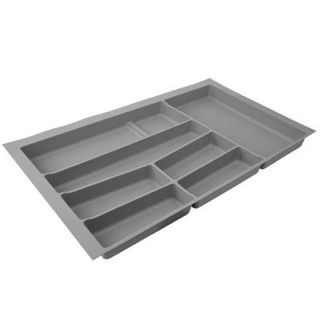 Suport organizare tacamuri, gri deschis, pentru latime corp 800 mm, montabil in sertar de bucatarie 0