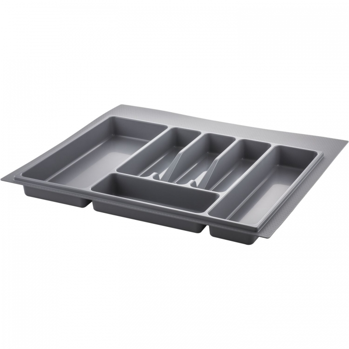 Suport organizare tacamuri, gri metalizat, pentru latime corp 600 mm , montabil in sertar bucatarie 0