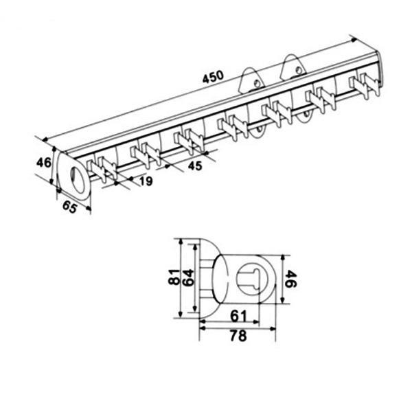 Suport pentru curele GeMax MG-CT27 450 mm 2