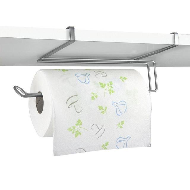 Suport rola de bucatarie Easy Roll, pentru usa de dulap sau etajera, gri [0]