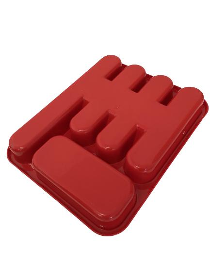Suport tacamuri pentru sertar, rosu 1