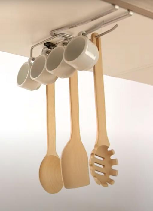 Suport universal pentru organizarea obiectelor de bucatarie, 8x25x3 cm 4