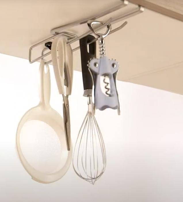 Suport universal pentru organizarea obiectelor de bucatarie, 8x25x3 cm 3