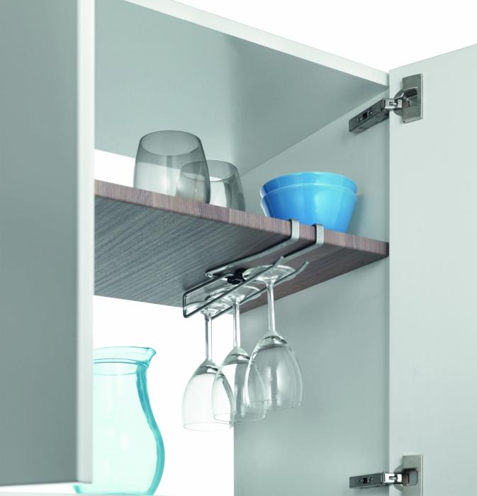 Suport universal pentru organizarea obiectelor de bucatarie, 8x25x3 cm 0