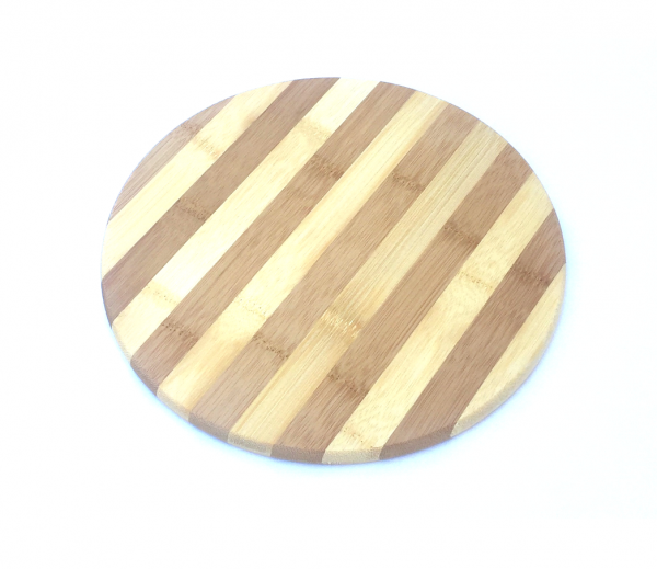 Tocator rotund din bambus diametru 25 cm [0]